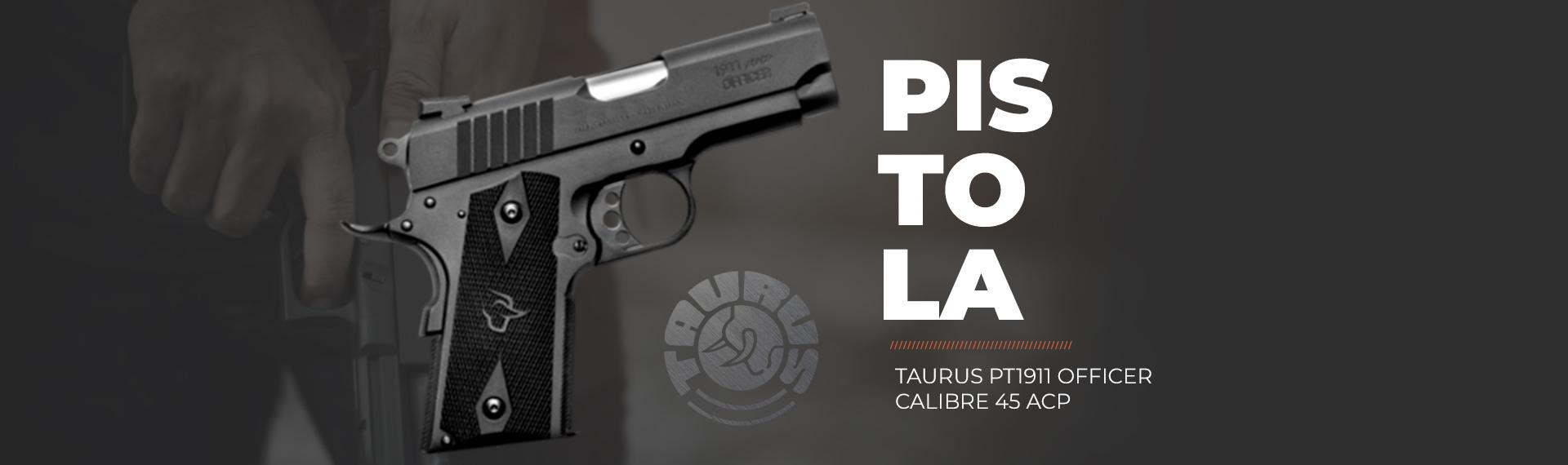 Pistola Taurus PT1911 Officer Calibre 45 ACP