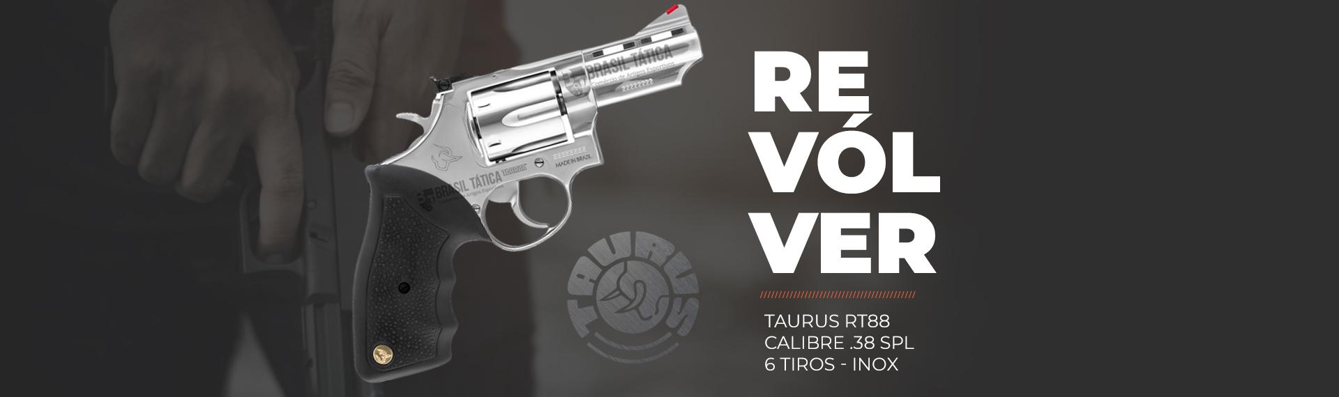 Revólver Taurus RT88 - Calibre .38 SPL - 6 Tiros - Inox
